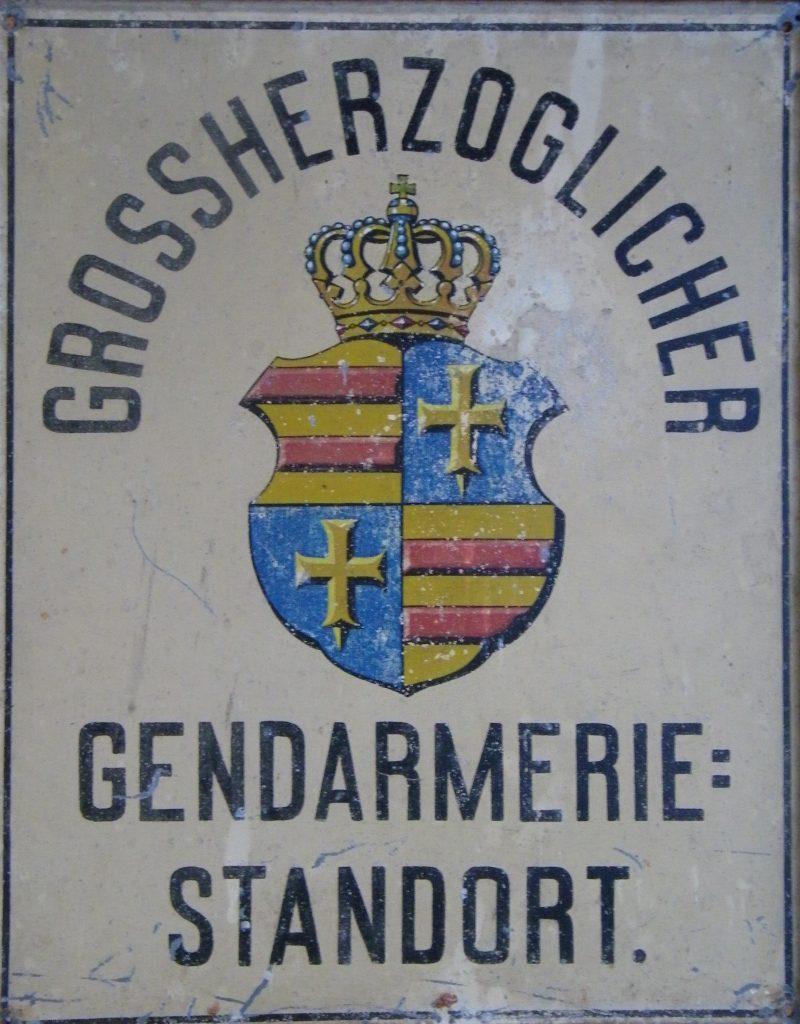 Dienststellenschild 1867-1919