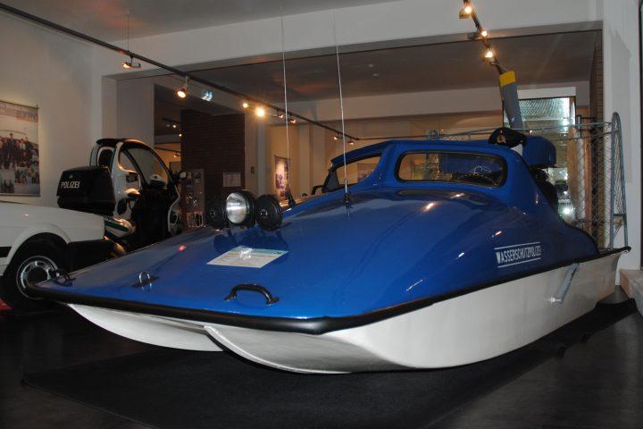 Der Hydrokopter kann in der Dauerausstellung des Polizeimuseums besichtigt werden.