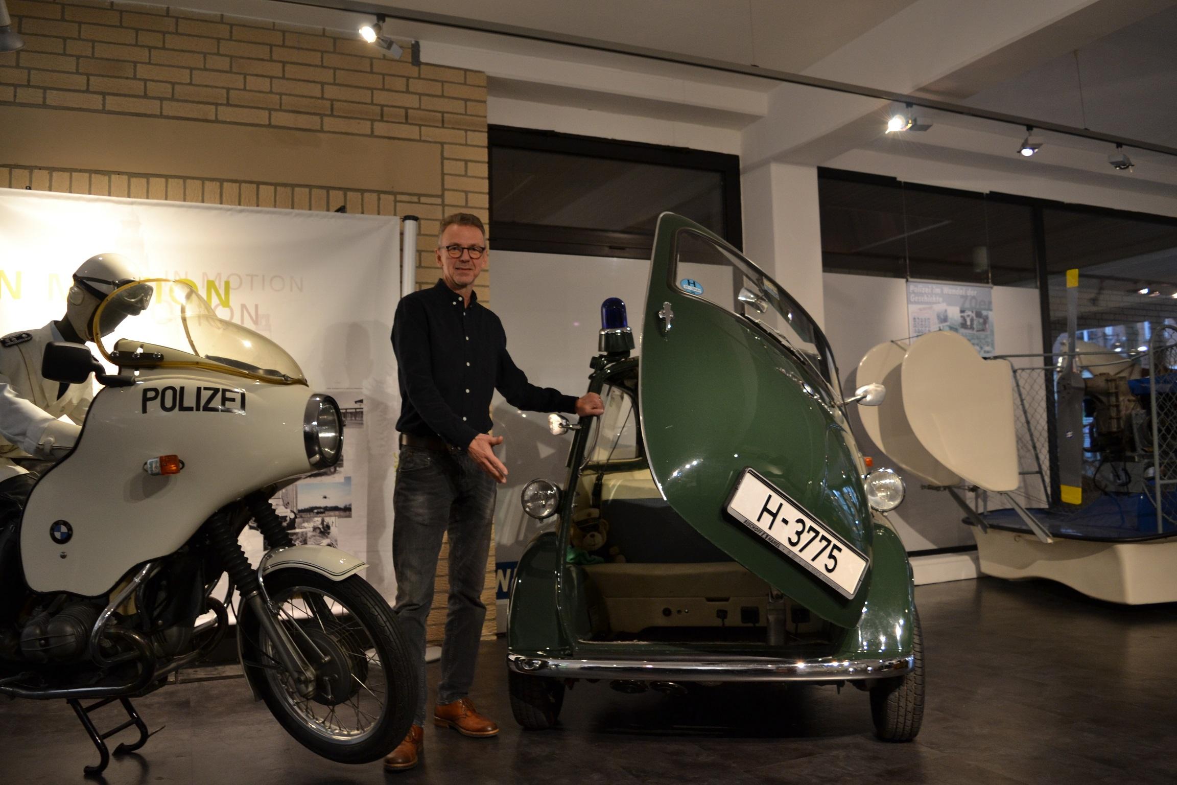 Museumsleiter Dirk Götting lädt zur Spritztour ein.